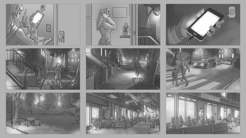 Storyboard backgrounds