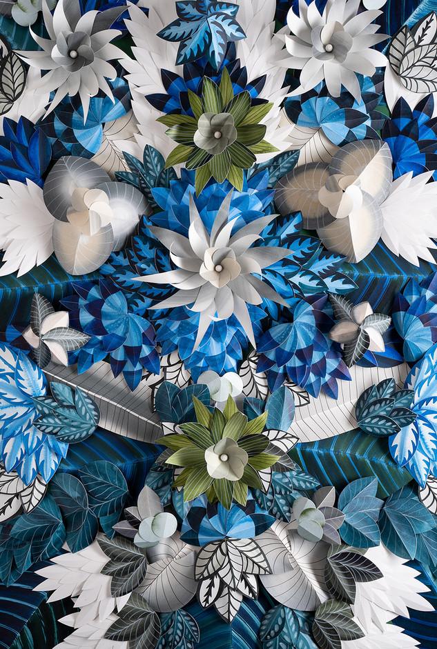 Hypnotisierendes Blumenmotiv - BLUE