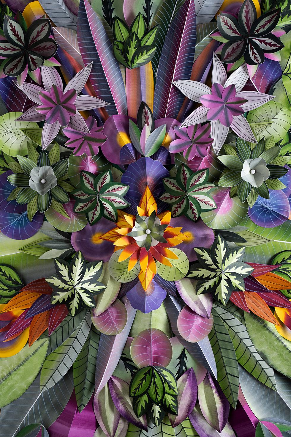 Hypnotisierendes Blumenmotiv - COLOR