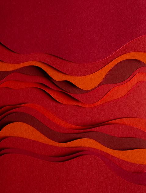 Messepark Dornbirn, Paperart, Papierkunst, papierillustration, rot, Martha von Maydell, MVMpapercuts, berlin