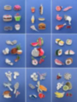 Sushi, paierknst, paperart, papercraft, Aquarell, Martha von Maydell, MVMpapercuts, Essen aus Papier, Pizza, Hamburger, Melone, Kirsche, Drachenfrucht, Kuchen, Torte, Fleisch