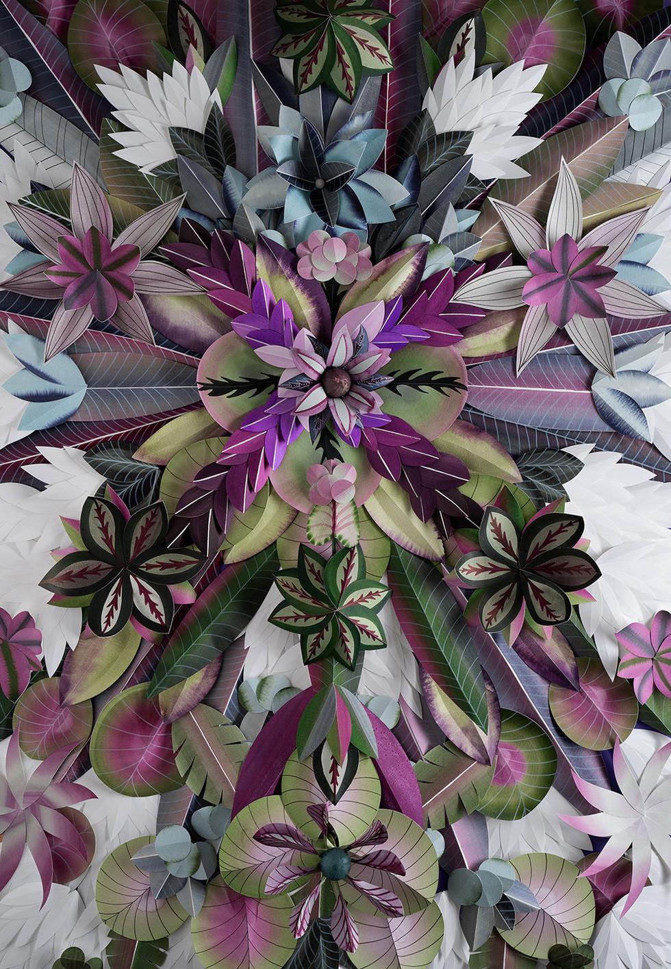 Hypnotisierendes Blumenmotiv - PURPLE