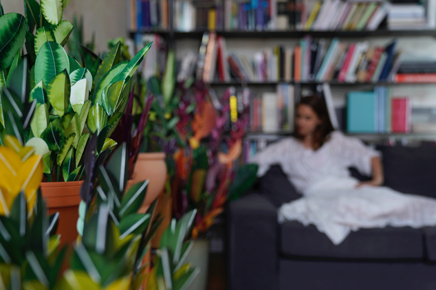 Viele Zimmerpflanzen 2019 erschaffen aus Papier - Paperart von Martha von Maydell