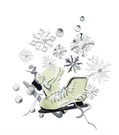 eislaufschuhe, schlittschuhe, weihnachten, eltern family, Paperart, Papercut, paperwork, papercraft, mvmpapercuts, berlin
