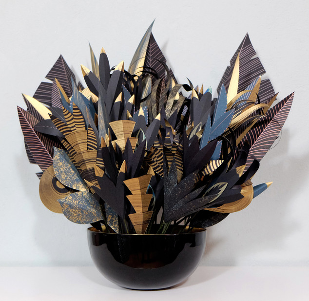 Golden Power 2020 Zimmerpflanze erschaffen aus Papier - Paperart