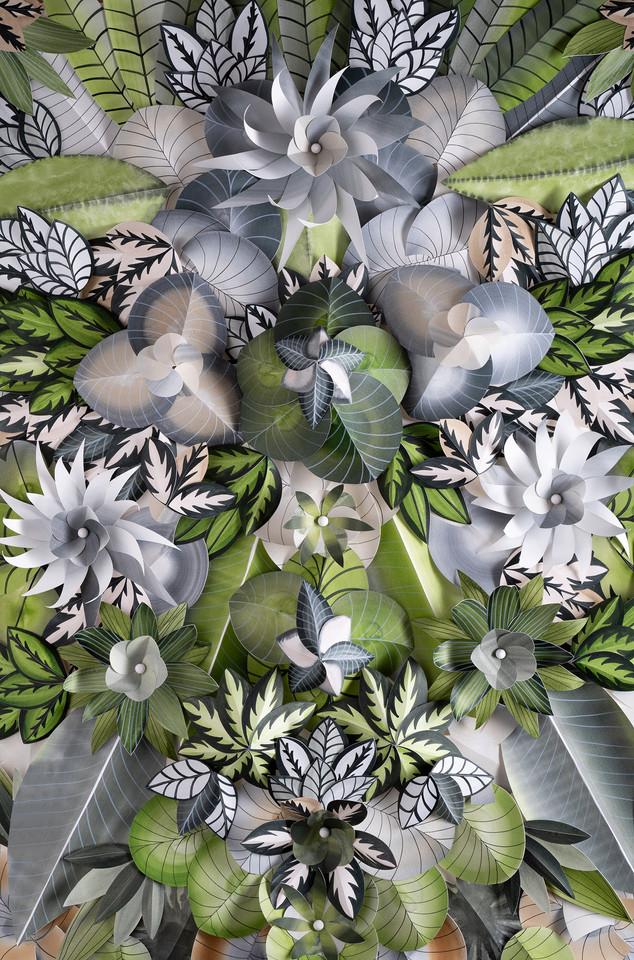 Hypnotisierendes Blumenmotiv - GREEN