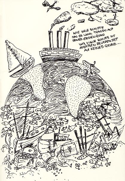 MAGAZIN MARE, papierkunst, Meer, paperart, MVMpapercuts, Martha von Maydell, Reinhard Mey, Illustration, paperwork, paperart