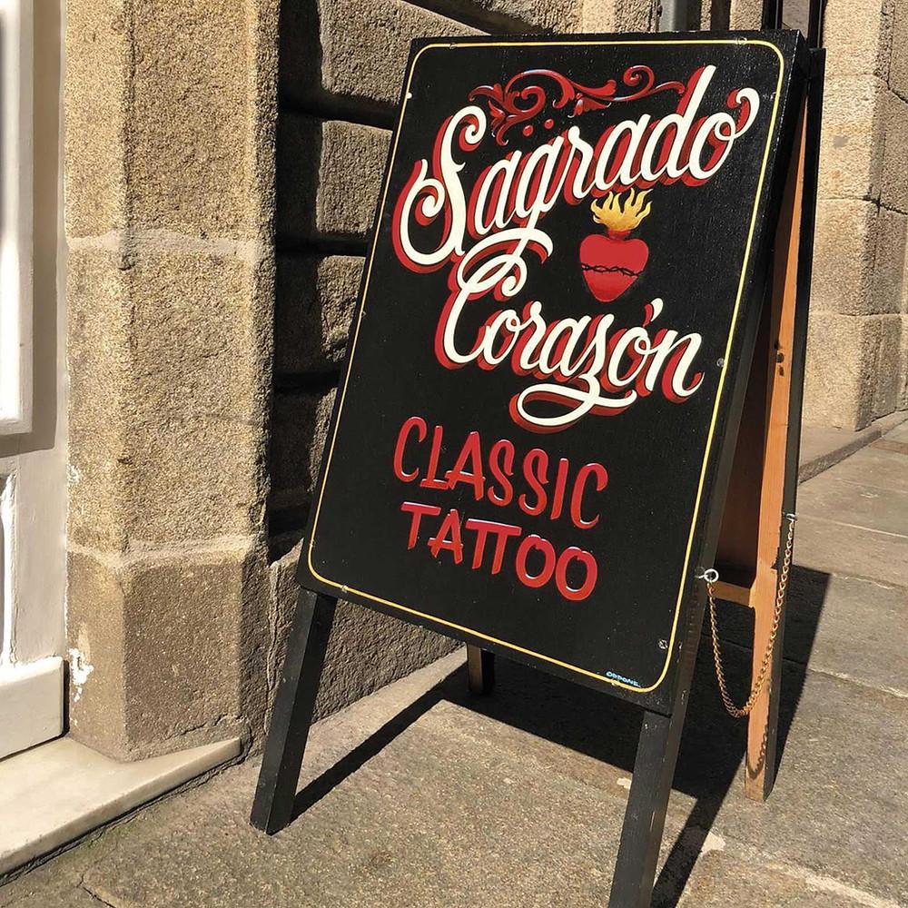 Sagrado Corazón Tattoos your trustworthy studio in the center of Santiago de Compostela.