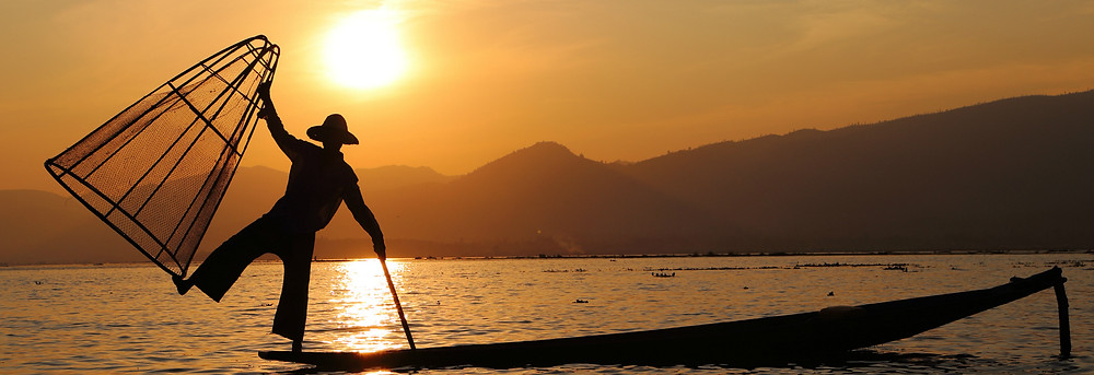 Inle Lake fisherman in Myanmar
