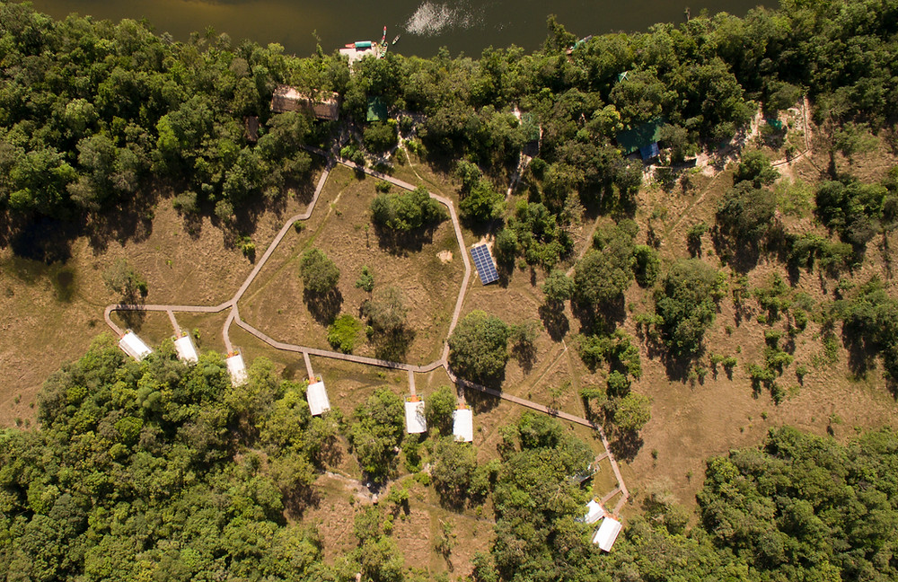 Aerial view of Cardamom Tented Camp