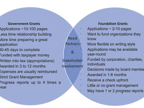 10 Differences Between Foundation and Government Grants