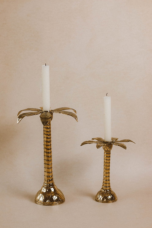 Tropical palmtree candle holder