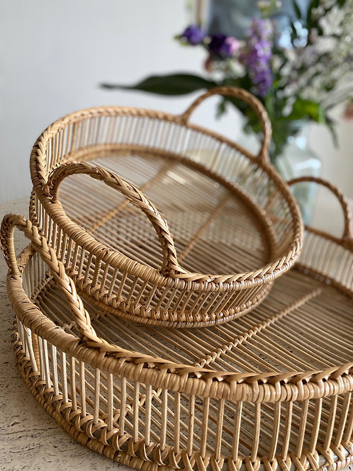 Rattan Tray package (set of 2)