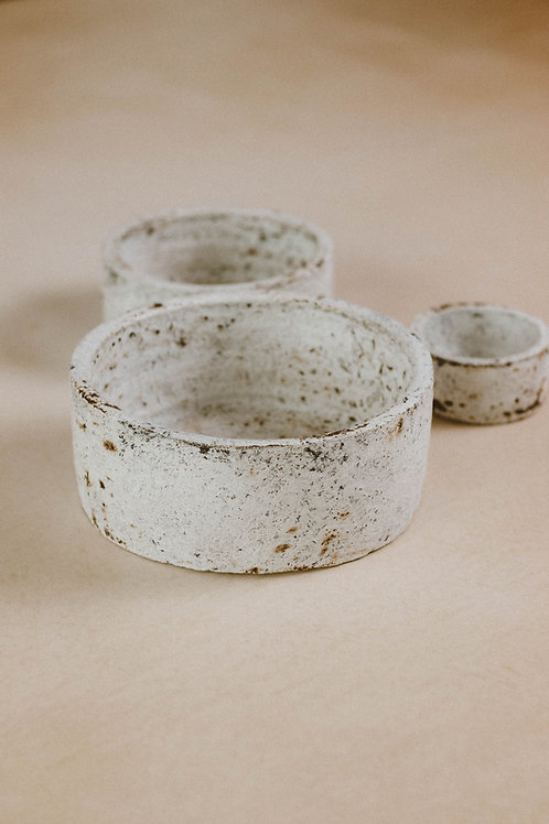 Burned bowls (set van 3)