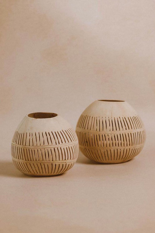 Coconut candle holder - Natural