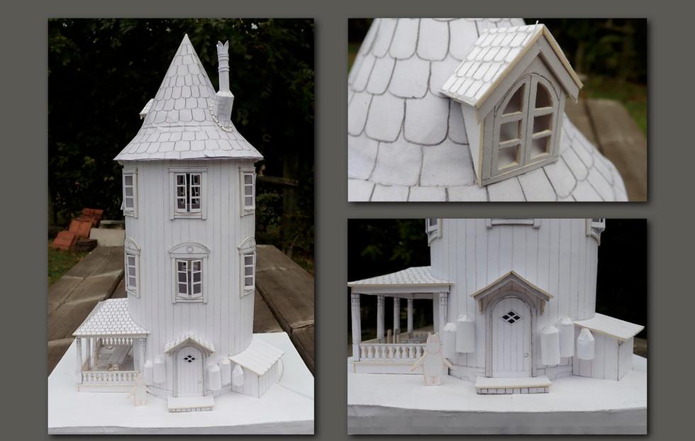 White card scale model