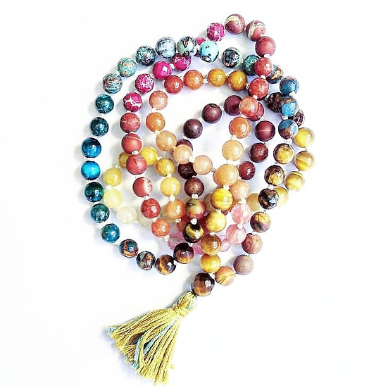 Monica Mesa Custom Rainbow Mala
