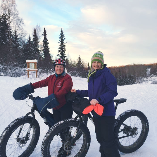 Lori & Nicole Fat biking