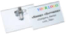 Pin and Clip Combo Horizontal Name Badge Holders