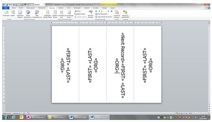 PRINTING FOR NAME TENTS         & PLACE CARDS WITH MAILMERGE