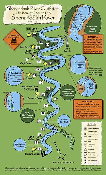Map of Shenandoh River