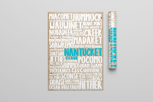 Nantucket Blue Poster