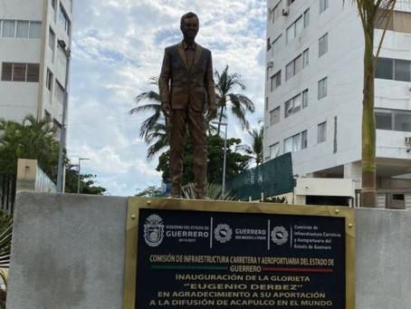 Vandalizan en Acapulco estatua de Eugenio Derbez