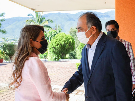 Se reúne Evelyn Salgado con Héctor Astudillo