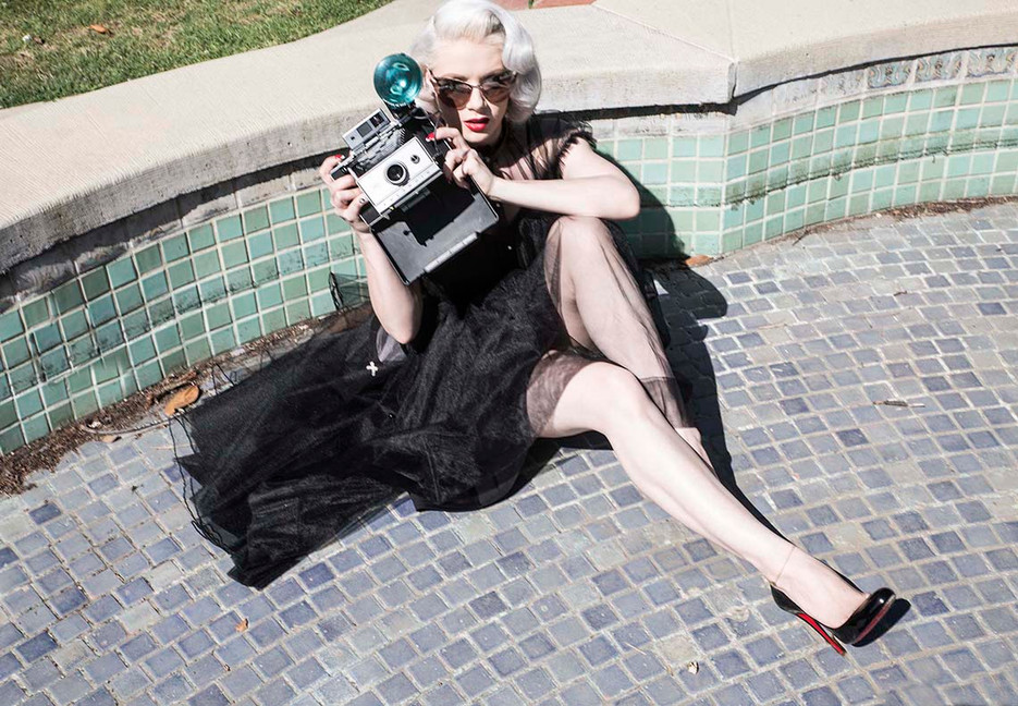 "Mosh wearing ""Bella"" dress, Photo by Ruben Tomas"