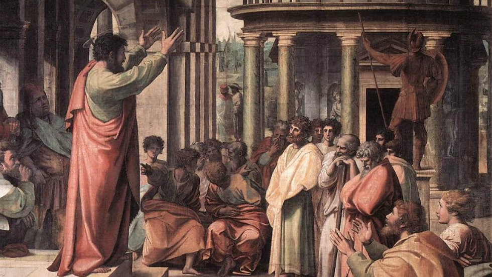 Peter's speech at Pentecost.