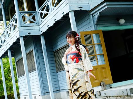 レトロな建物のある素敵なロケーションで成人式前撮り photo+life 縁 ~enishi~ 出張撮影 ロケーション撮影 