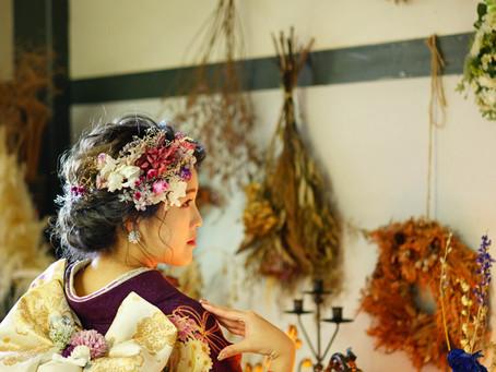 お花屋さんで成人式の前撮り✨