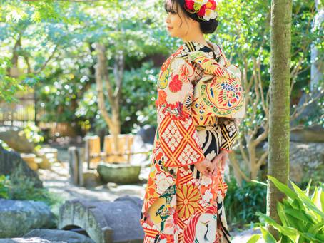 美しいお庭のある古民家でアンティーク振袖ロケ photo+life 縁 ~enishi~  成人式 アンティーク振袖 出張撮影 ロケーション撮影 