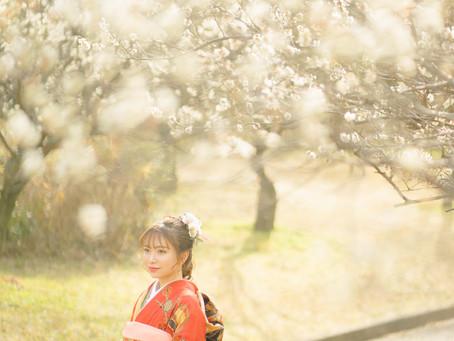 レトロな街並みと梅園で振袖撮影 photo+life 縁 ~enishi~ 出張撮影 ロケーション撮影 