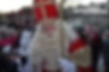 Sinterklaas tijdens de intocht.