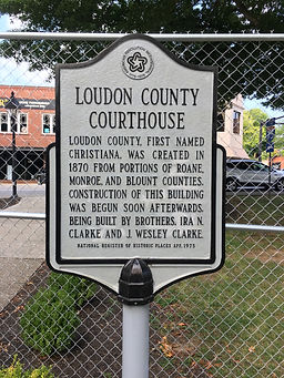 Loudon County Courthouse historical mark