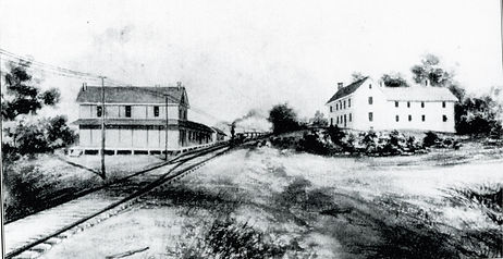 Lenoir Brothers depot and general store.