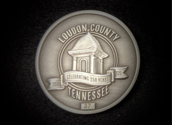 Loudon County numbered coin