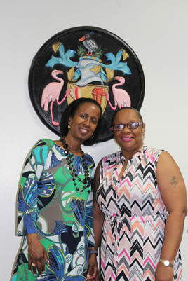With Sharlene Cartwright-Robinson, Premier of Turks and Caicos, June 2018
