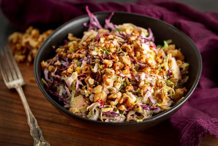 Hearty Vegan Brussel Sprout Coleslaw