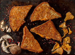 Vegan and Gluten Free Grill Cheese with Chanterelle Mushrooms