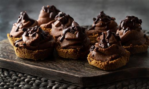 Mini Vegan Chocolate Cheesecakes