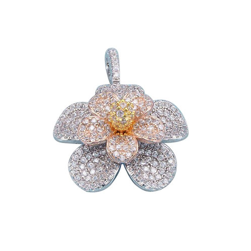 Tri Color Flower Pendant