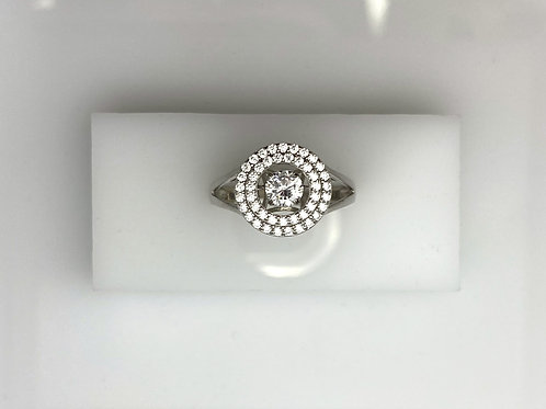 Sterling Silver & Dancing CZ Ring