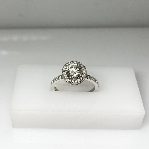 White Gold Diamond Halo Ring