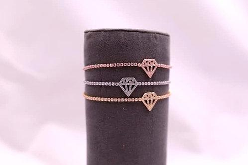 Diamond Logo Bolo Bracelet