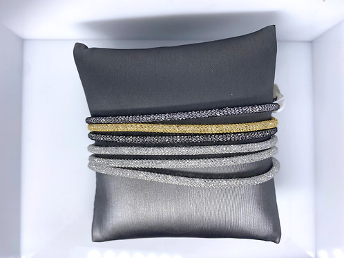 Sterling Silver Mesh CZ Bracelet