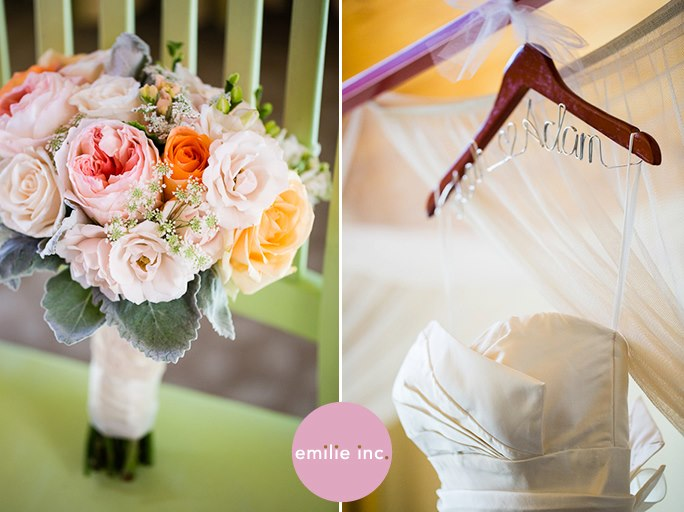 Peach and apricot bouquet