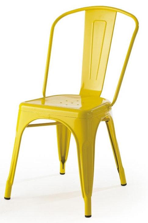 Yellow Metal Side chair