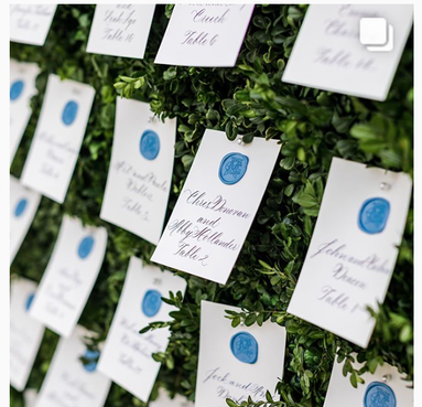 Escort Card Seating